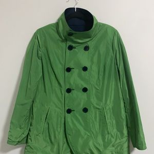Double sided green and Dark blue Coats